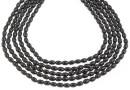 Swarovski pearl, mystic black, 4x3mm - x100