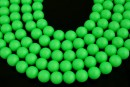 Swarovski pearls, neon green, 12mm - x2