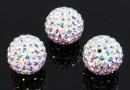 Swarovski, pave beads, aurore boreale, 8mm - x1