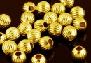 Decorative beads, gold plated 925 silver, 3mm - x10