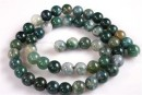 Moss agate, round, 6.5mm