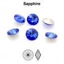 Preciosa rivoli, sapphire, 6mm - x2
