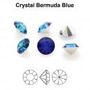 Preciosa chaton, bermuda blue, 6mm - x4