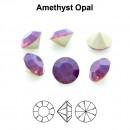 Preciosa chaton, amethyst opal, 7mm - x2