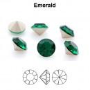 Preciosa chaton, emerald, 8mm - x2