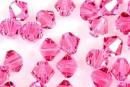 Preciosa, bicone bead, rose, 4mm - x40
