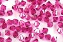 Preciosa, bicone bead, fuchsia, 4mm - x40
