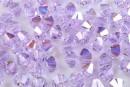 Preciosa, bicone bead, violet AB, 4mm - x40